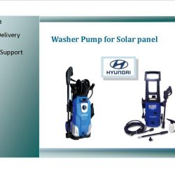 Washer pump for solar panel